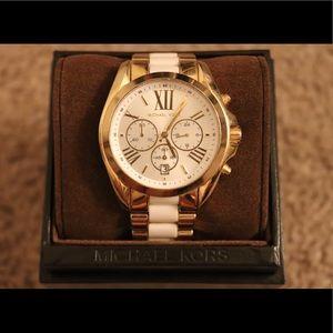 Michael Kors Bradshaw White Watch